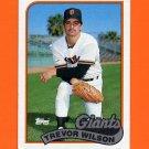 1989 Topps Baseball #783 Trevor Wilson RC - San Francisco Giants Ex
