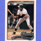 1989 Topps Baseball #753 Jose Uribe - San Francisco Giants