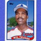 1989 Topps Baseball #747 Wil Tejada - Montreal Expos