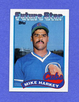 1989 Topps Baseball #742 Mike Harkey RC - Chicago Cubs