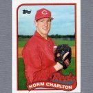 1989 Topps Baseball #737 Norm Charlton RC - Cincinnati Reds