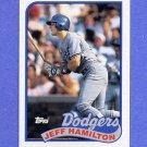 1989 Topps Baseball #736 Jeff Hamilton - Los Angeles Dodgers NM-M