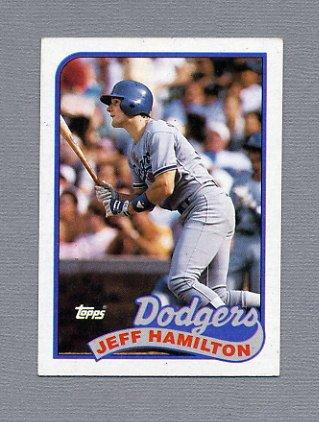1989 Topps Baseball #736 Jeff Hamilton - Los Angeles Dodgers ExMt