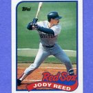 1989 Topps Baseball #734 Jody Reed - Boston Red Sox