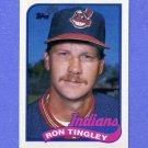 1989 Topps Baseball #721 Ron Tingley - Cleveland Indians