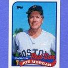 1989 Topps Baseball #714 Joe Morgan MG / Boston Red Sox Team Checklist NM-M