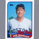 1989 Topps Baseball #714 Joe Morgan MG / Boston Red Sox Team Checklist ExMt