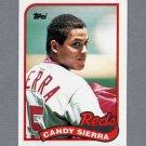 1989 Topps Baseball #711 Candy Sierra - Cincinnati Reds ExMt