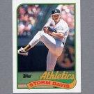 1989 Topps Baseball #701 Storm Davis - Oakland A's ExMt