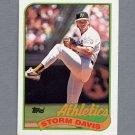 1989 Topps Baseball #701 Storm Davis - Oakland A's Ex