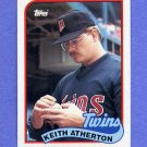 1989 Topps Baseball #698 Keith Atherton - Minnesota Twins