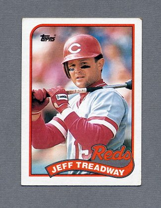 1989 Topps Baseball #685 Jeff Treadway - Cincinnati Reds Ex