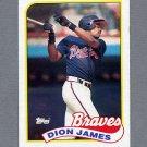 1989 Topps Baseball #678 Dion James - Atlanta Braves Ex