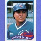 1989 Topps Baseball #642 Argenis Salazar - Chicago Cubs