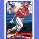 1989 Topps Baseball #640 Willie McGee - St. Louis Cardinals