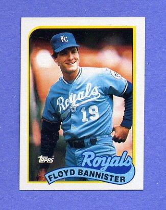 1989 Topps Baseball #638 Floyd Bannister - Kansas City Royals