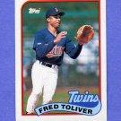 1989 Topps Baseball #623 Fred Toliver - Minnesota Twins