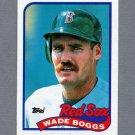 1989 Topps Baseball #600 Wade Boggs - Boston Red Sox