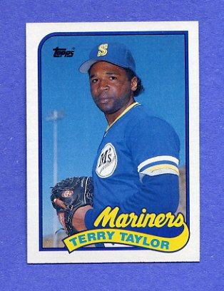 1989 Topps Baseball #597 Terry Taylor RC - Seattle Mariners
