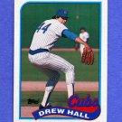 1989 Topps Baseball #593 Drew Hall - Chicago Cubs