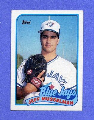 1989 Topps Baseball #591 Jeff Musselman - Toronto Blue Jays