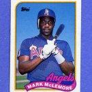 1989 Topps Baseball #547 Mark McLemore - California Angels