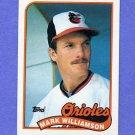 1989 Topps Baseball #546 Mark Williamson - Baltimore Orioles