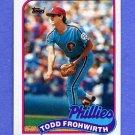1989 Topps Baseball #542 Todd Frohwirth - Philadelphia Phillies
