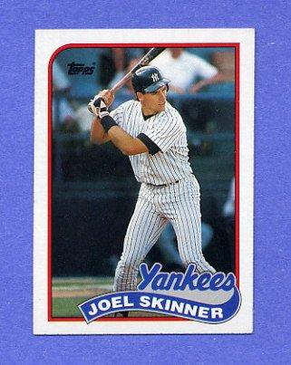 1989 Topps Baseball #536 Joel Skinner - New York Yankees