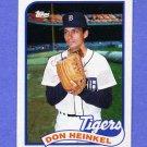 1989 Topps Baseball #499 Don Heinkel - Detroit Tigers NM-M