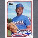 1989 Topps Baseball #496 Dwayne Henry - Texas Rangers Ex