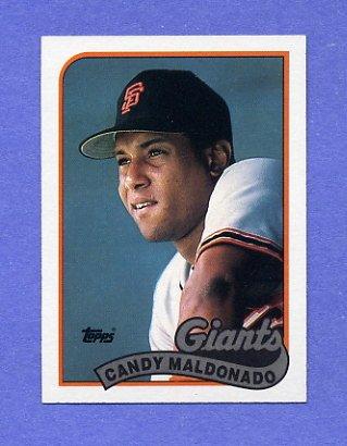1989 Topps Baseball #495 Candy Maldonado - San Francisco Giants