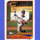 1989 Topps Baseball #491 Mike Birkbeck - Milwaukee Brewers