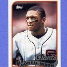 1989 Topps Baseball #447 Donell Nixon - San Francisco Giants