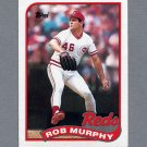 1989 Topps Baseball #446 Rob Murphy - Cincinnati Reds Ex