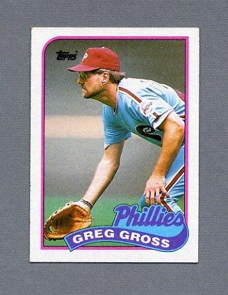 1989 Topps Baseball #438 Greg Gross - Philadelphia Phillies ExMt