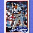 1989 Topps Baseball #436 Bobby Meacham - New York Yankees NM-M