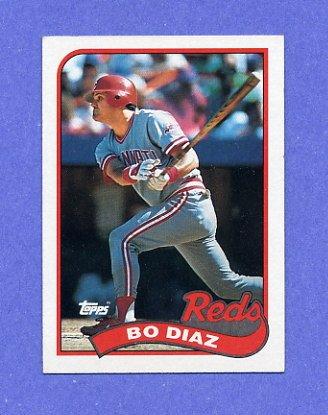 1989 Topps Baseball #422 Bo Diaz - Cincinnati Reds