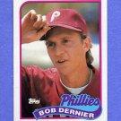 1989 Topps Baseball #418 Bob Dernier - Philadelphia Phillies