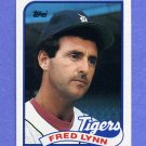 1989 Topps Baseball #416 Fred Lynn - Detroit Tigers