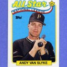 1989 Topps Baseball #392 Andy Van Slyke AS - Pittsburgh Pirates NM-M