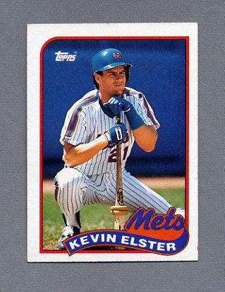 1989 Topps Baseball #356 Kevin Elster - New York Mets ExMt