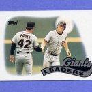 1989 Topps Baseball #351 Bob Melvin / Bill Fahey / San Francisco Giants TL