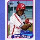 1989 Topps Baseball #349 Ron Jones - Philadelphia Phillies