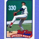 1989 Topps Baseball #326 Dennis Boyd - Boston Red Sox Ex