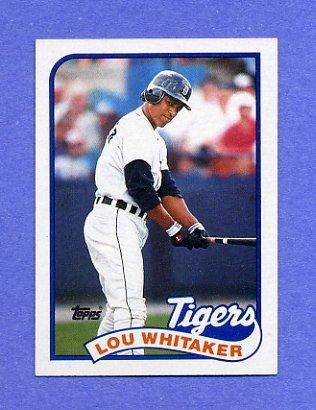 1989 Topps Baseball #320 Lou Whitaker - Detroit Tigers