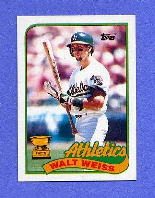 1989 Topps Baseball #316 Walt Weiss - Oakland A's