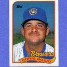 1989 Topps Baseball #311 Chris Bosio - Milwaukee Brewers NM-M