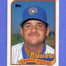 1989 Topps Baseball #311 Chris Bosio - Milwaukee Brewers ExMt