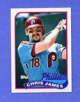 1989 Topps Baseball #298 Chris James - Philadelphia Phillies